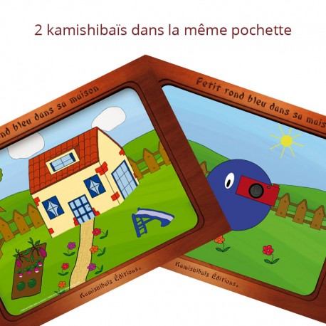 kamishibais Petit rond bleu dans sa maison - Petit rond bleu photographe